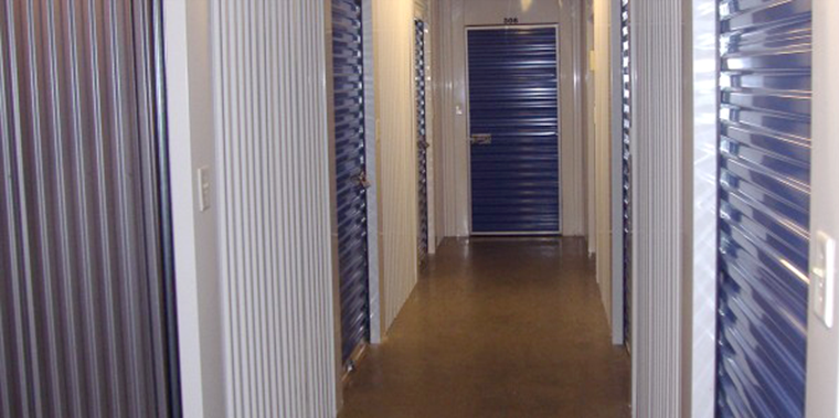 interior view of storage area