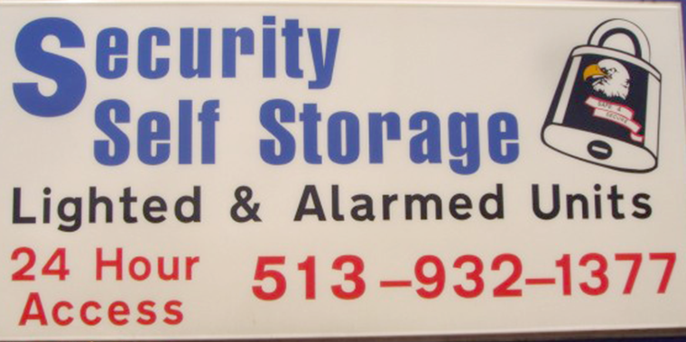image of security self storage sign